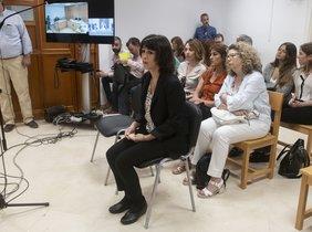 Juana Rivas en un juicio del 2018.