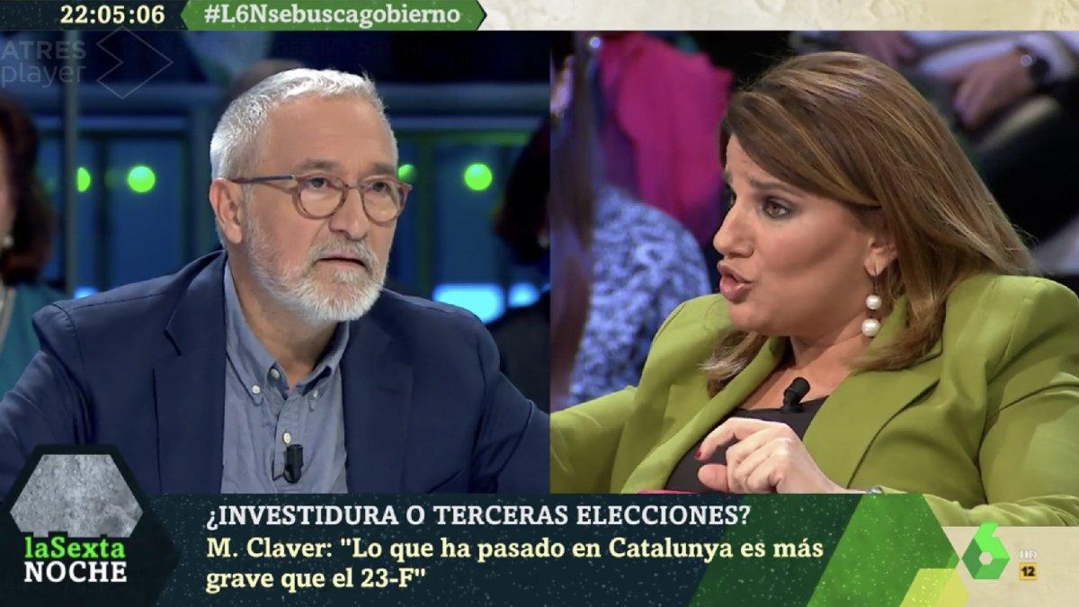 "Tenso cruce de palabras entre Xavier Sardà y María Claver: ""¡Nena, que no te enteras!"""