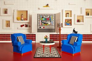 El salón de la casa de Lego en Billund (Dinamarca)