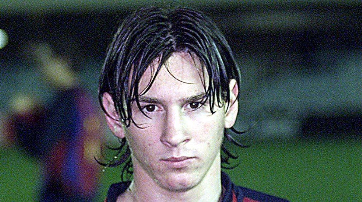 Leo Messi, con la camiseta del Barça, en noviembre del 2003.