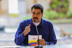 Nicolás Maduro, presidente de Venezuela en el Palacio Miraflores. AFP