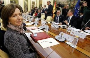 Maria Jesús Mier, hasta ahora secretaria general de Ensenyament, en una reunión en el Ministerio de Educación en el 2015.