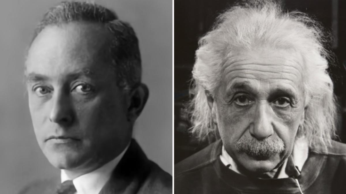 Max Born, junto a Albert Einstein, con quienmanteníauna relación peculiar.