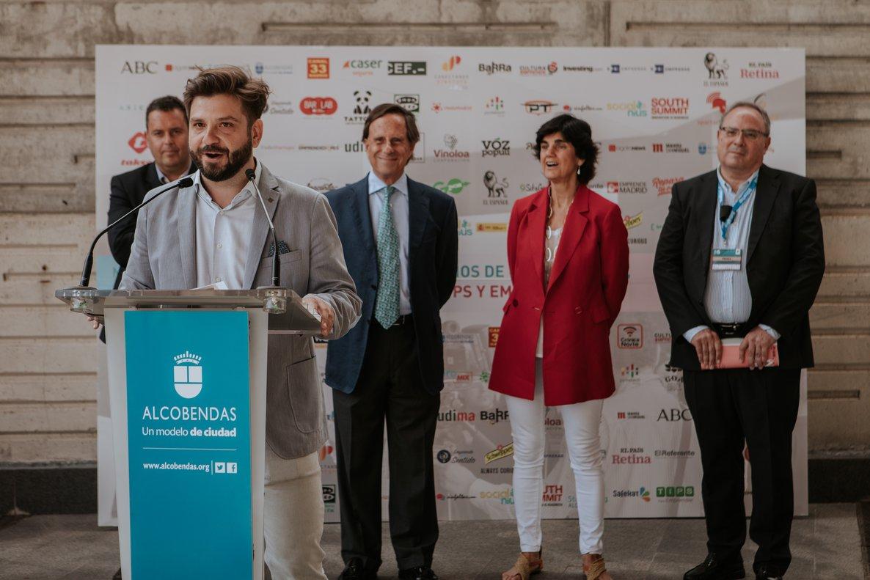 Presentación del MediaStartups Alcobendas 2018 por parte de Chema Nieto, impulsor del evento.