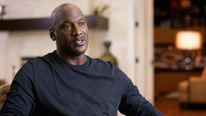 Michael Jordan, durante su aparición en el documental 'El último baile'.