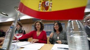 a ministra de Hacienda Maria Jesus Montero y por la ministra de Politica Territorial y Funcion Publica Carolina Darias