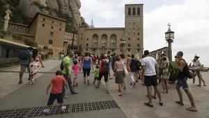 El monasterio de Montserrat.
