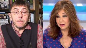 """Juan Carlos Monedero, contra Ana Rosa Quintana: """"Ets el cor de la dreta espanyola»"""