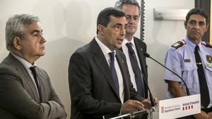 El nuevo jefe de los Mossos, Pere Soler, interviene en una rueda de prensa, el pasado 19 de julio.