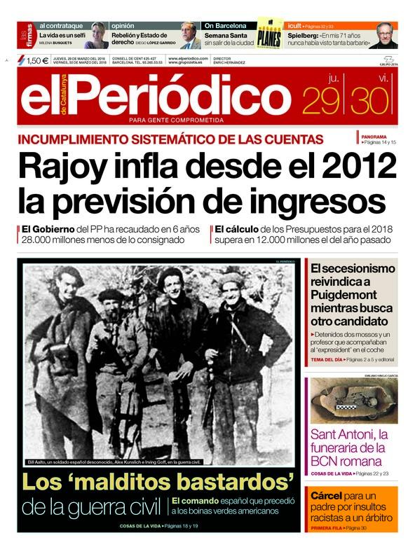 """""""El abogado de Puigdemont pide frenar su investidura"""", titula 'La Razón'"""