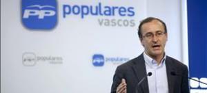 El presidente de los populares vascos, Alfonso Alonso, ha anunciado el despido disciplinario por graves irregularidades del antiguo gestor del PP de Vizcaya