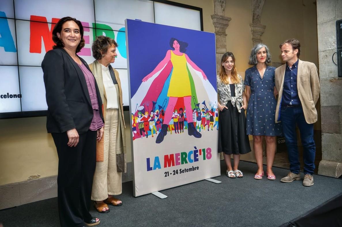 Presentación del cartel de las fiestas de la Mercè 2018.