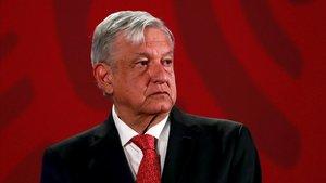 El presidente de México, Andrés Manuel López Obrador, en una rueda de prensa el pasado 17 de marzo.