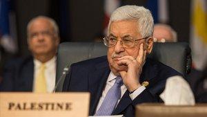 El presidente palestino, Mahmud Abbás.