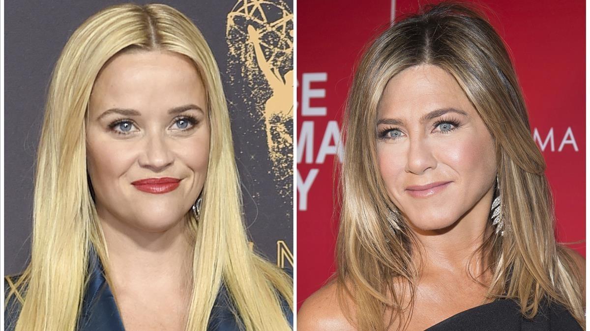 Las actrices Reese Witherspoon (izquierda) y Jennifer Aniston.