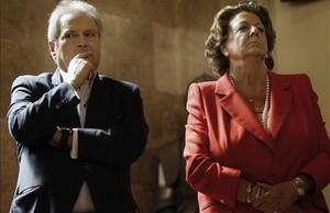Rita Barberá y el exalcalde de Xàtiva, Alfonso Rus, en una imagen de archivo.