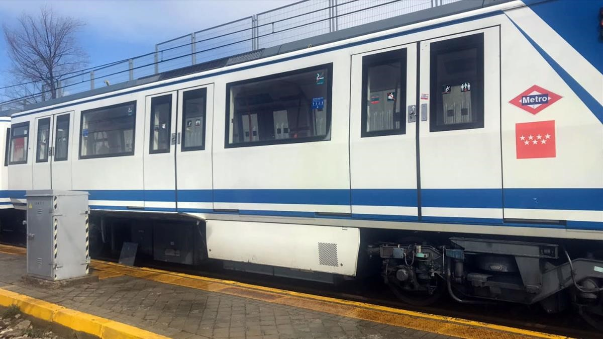 Convoy del Metro de Madrid.