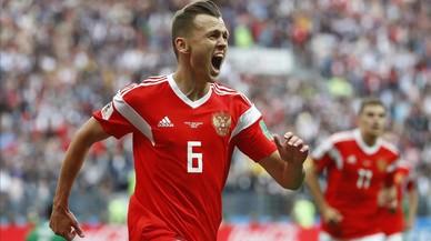 Rusia abre el Mundial con una 'manita' ante la Arabia de Pizzi