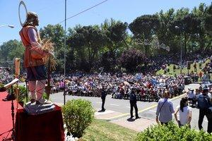 Celebración de la festividad de San Isidro, patrón de Madrid, en la Pradera.