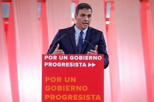 Sánchez, durante la presentación de las 300 medidas para un gobierno progresista.