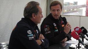 Sito Pons y Sete Gibernau, el pasado sábado, en el circuito valenciano de Cheste.