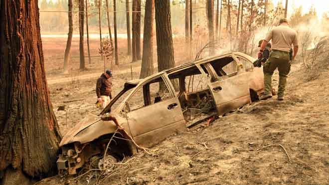 Ya son 31 muertos y un centenar los desaparecidos en los incendios de California.