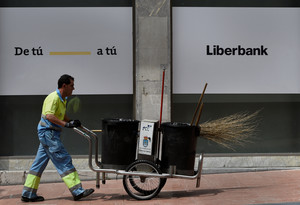 Oficina de Liberbank en Oviedo.