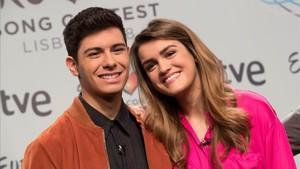Alfred y Amaia, concursantes de Operacion Triunfo que representarán a TVE en Eurovision con Tu canción.