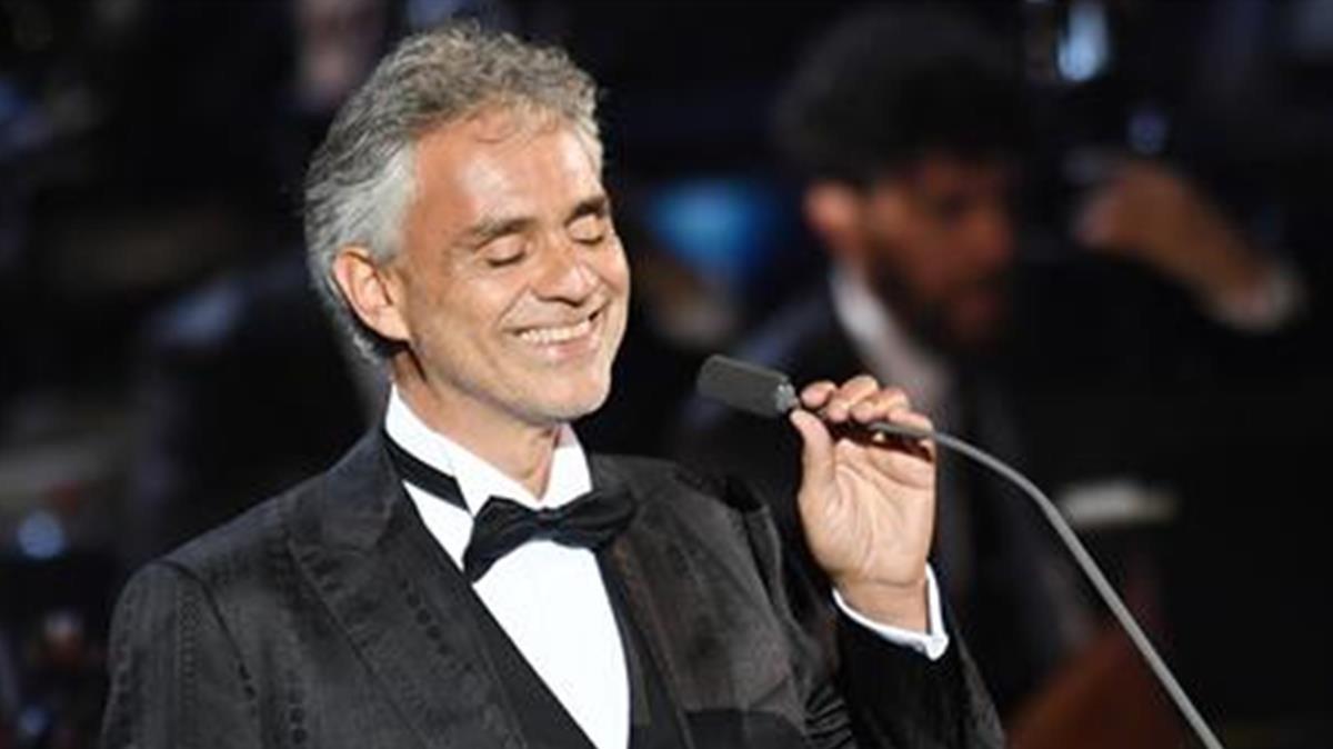 El tenor italiano Andrea Bocelli.