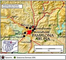 Un terratrèmol de 4,4 desperta Pamplona