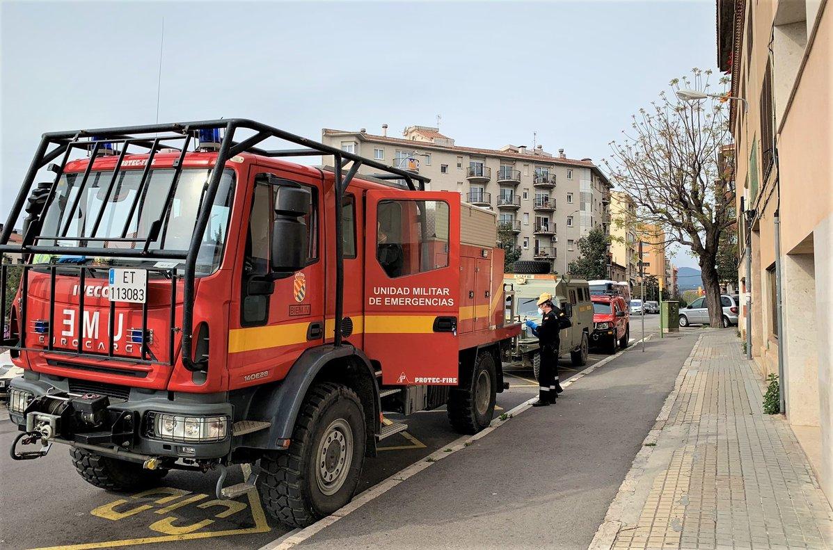 La Unidad Militar de Emergencias (UME) en Mataró.