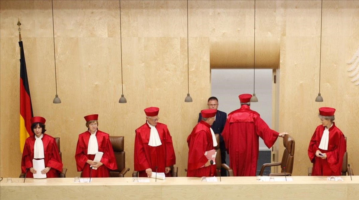 Varios magistrados del Tribunal Constitucional de Alemania.