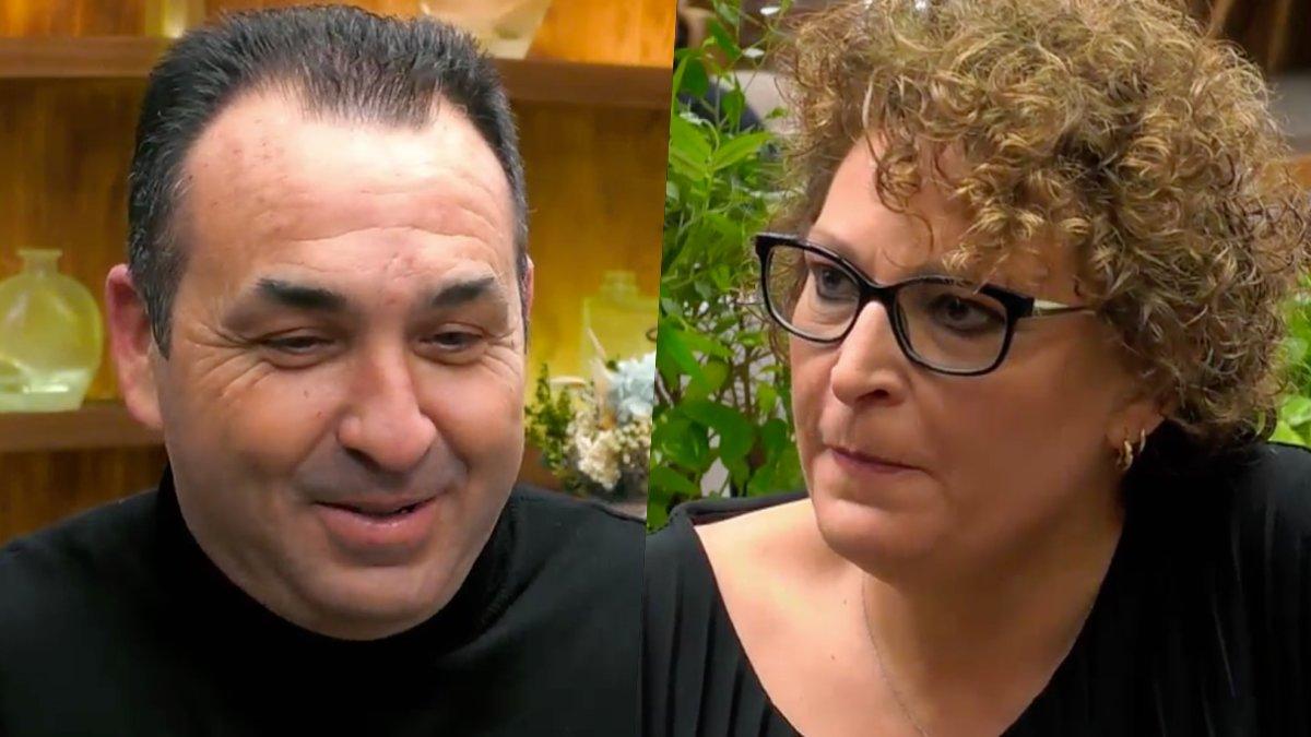 Vicente y Reme en 'First Dates'.