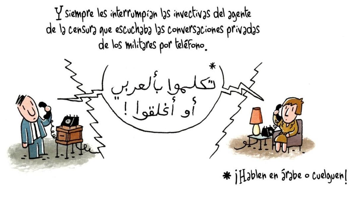 Viñeta del cómic Las amapolas de Irak, de Brigitte Findakly y Lewis Trondheim.