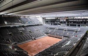 Vista del techo de la pista central de Roland Garros.