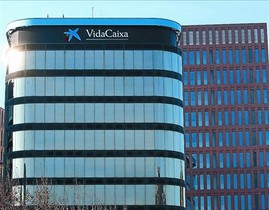 Vista de la sede en Barcelona de VidaCaixa.