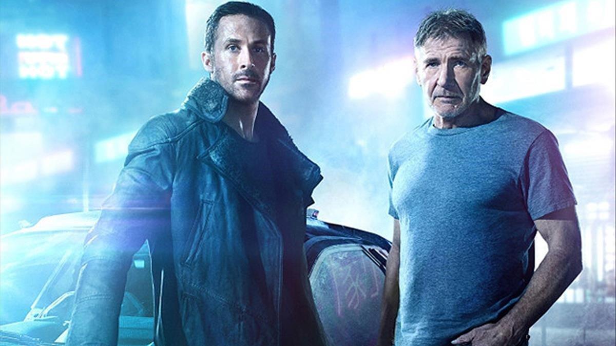 Imagen de Blade Runner 2049, conRyan Gosling y Harrison Ford.