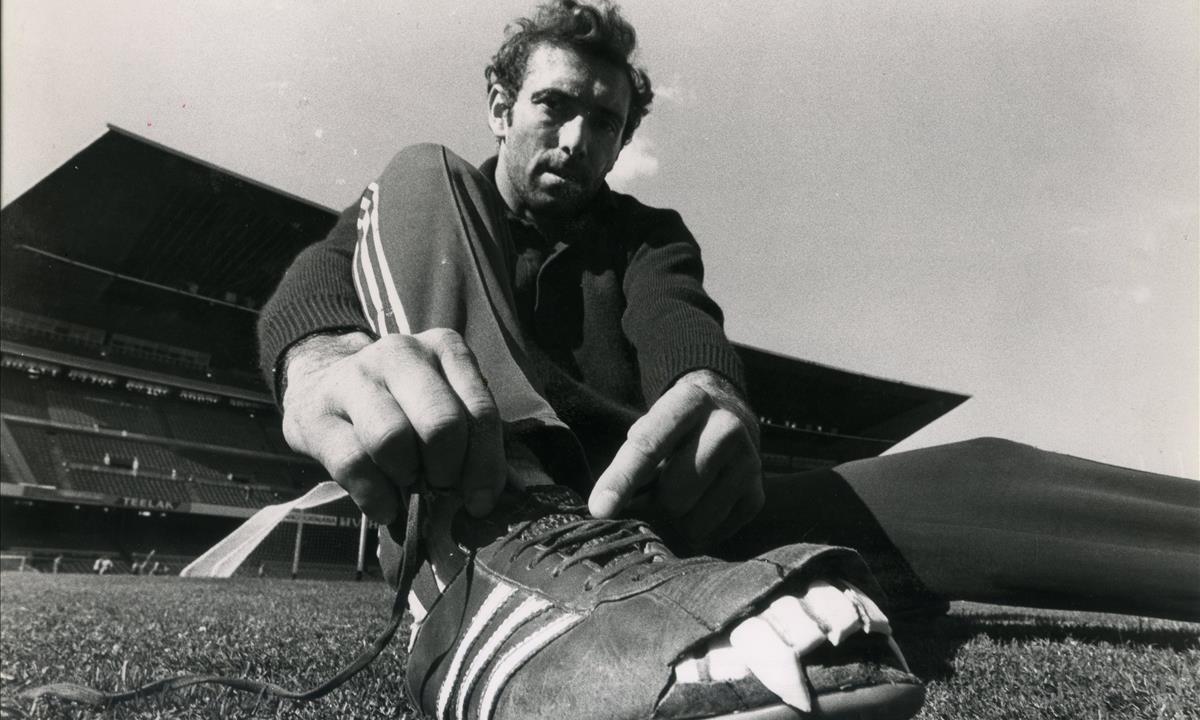 El futbolista Enrique Castro, Quini.