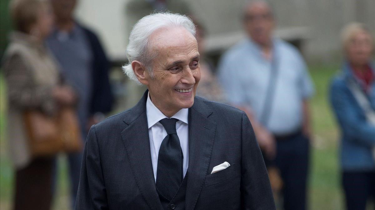 El tenor catalán Josep Carreras, el pasado mes de octubre en Barcelona.