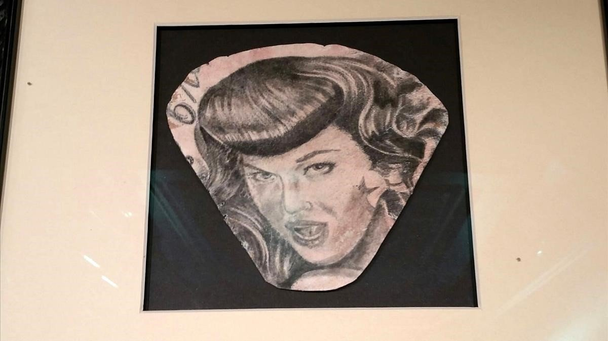 Muestra de uno de los tatuajes de un difunto que ha sido conservado