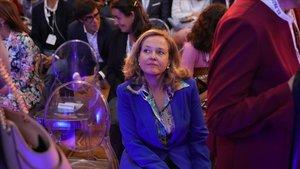 Nadia Calviño en un acto en Madrid, el pasado 18 de septiembre.