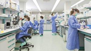 Un laboratorio de investigación para frenar el coronavirus.
