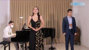Josep Buforn, Sara Blanch y Joan Martin-Royo, en un momento del concierto.