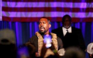 Kanye West, en un acto electoral el pasado mes de julio.
