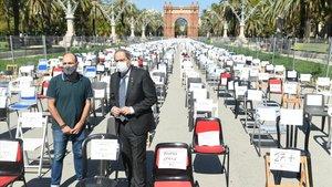Òmnium demana l'amnistia per als «represaliats» amb 2.850 cadires buides