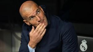 Zinedine Zidane, durante el partido ante el Tottenham.