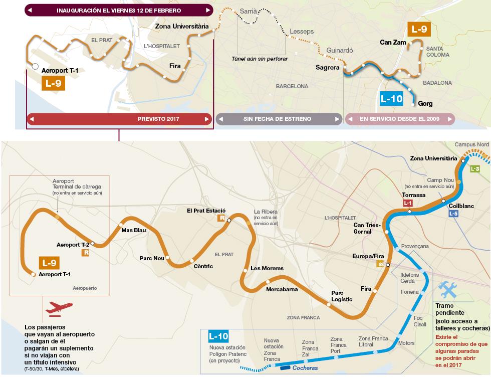 mapa metro l9 aeropuerto barcelona bcn
