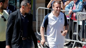 mbenach38925187 french president emmanuel macron carries a racquet as he lea170617164718