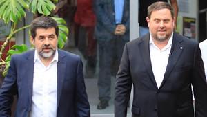 Jordi Sànchez y Oriol Junqueras, el pasado julio en Barcelona.