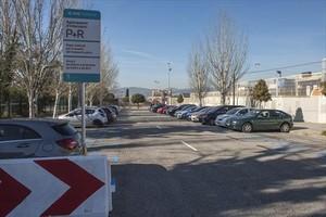 Aparcamiento de intercambio P+R en Sant Joan Despí